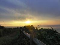 大バエ灯台からの夕日