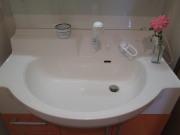 洗面台まわりはすっきりきれいに