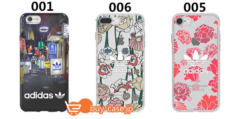 TPUアディダスiPhoneX/iPhone8/7Plusケース携帯カバーiPhone7plusシンプル