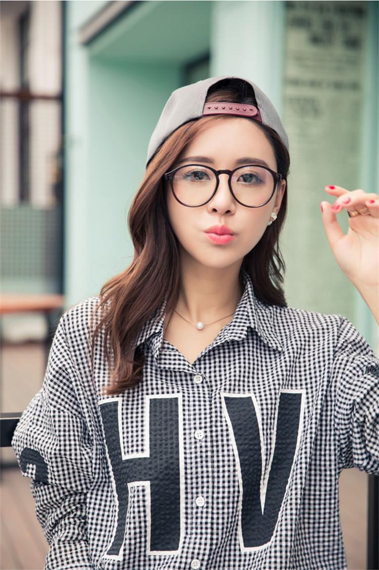 眼鏡アイドル有名人芸能人愛用メガネ価格比較メガネ通販韓国ulzzang原宿日系安いtopメガネ黒縁メガネめがねブラックフレーム大きいオーバル丸い