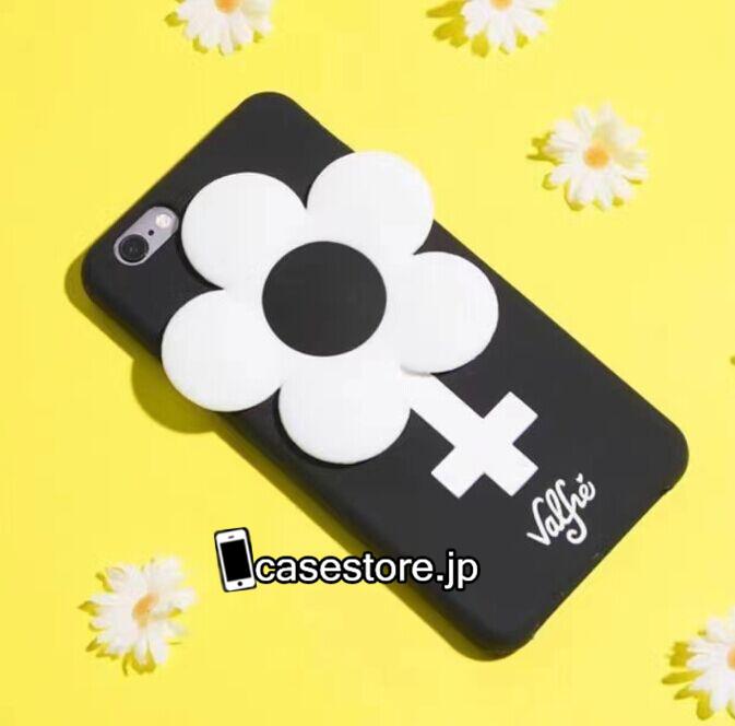 iphone7ケース暗い黒いブラック雰囲気 iPhone 6 6S 7 Plus Valfre 十字架ヴァルフェーiPhone8/iPhone7s/7Plus/6s白い花 ソフトシリコン製携帯カバー