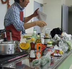 緊急事態の男の料理