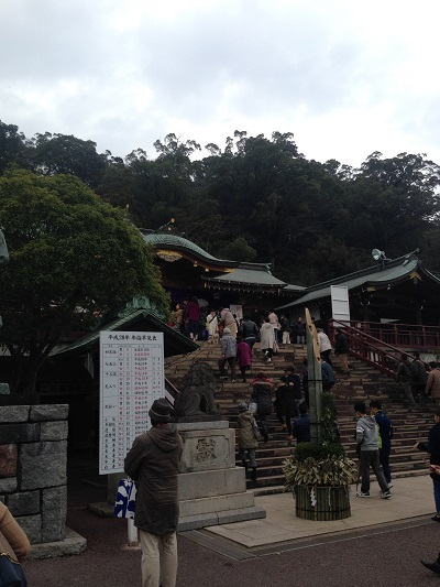 長崎諏訪神社へ初詣
