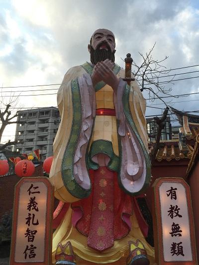 長崎ランタンフェスティバル2016 孔子廟のランタンを