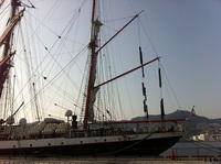 ロシア帆船「セドフ」長崎入港