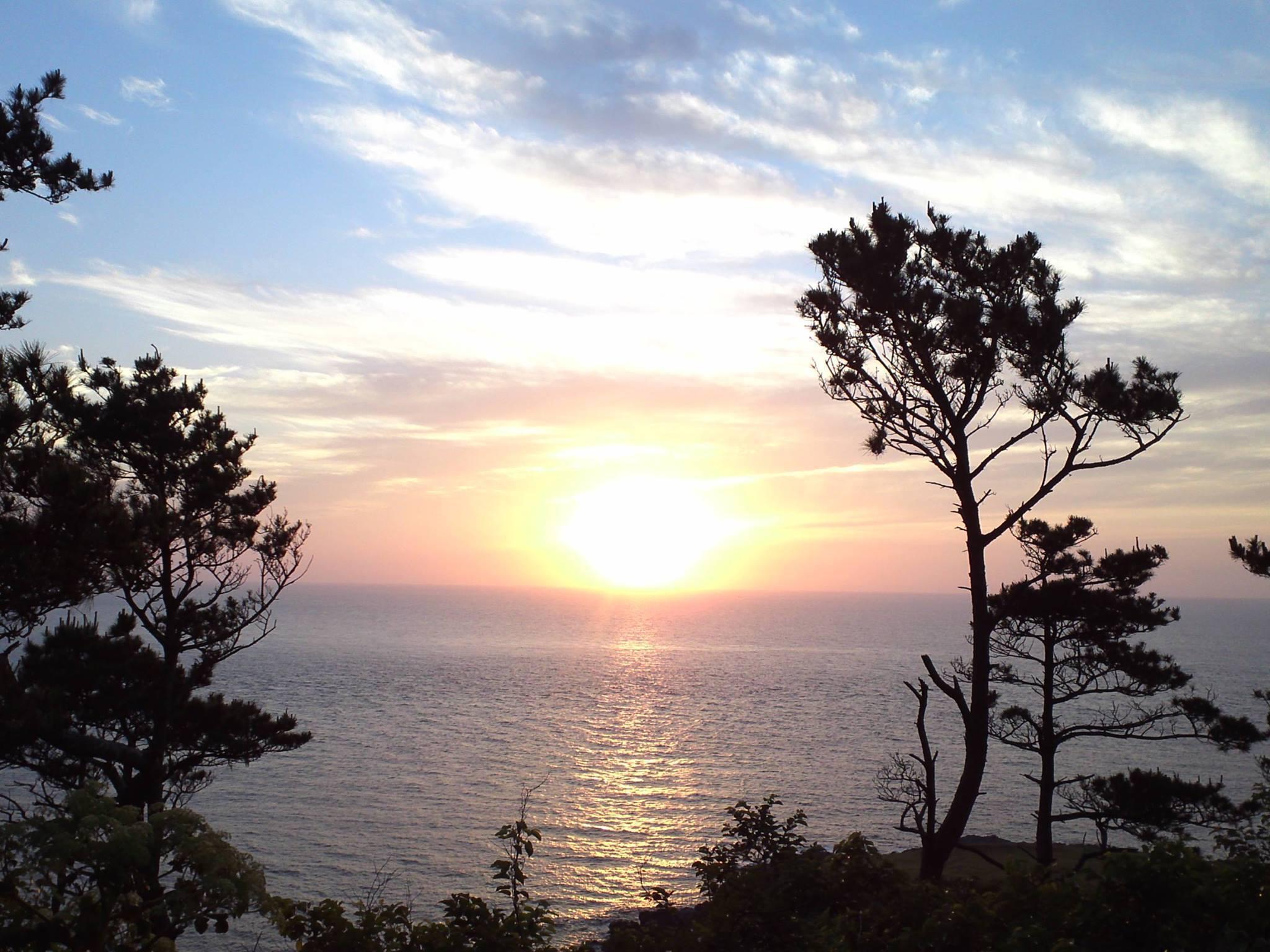 2016年の初夏に撮影した斑島のサンセット