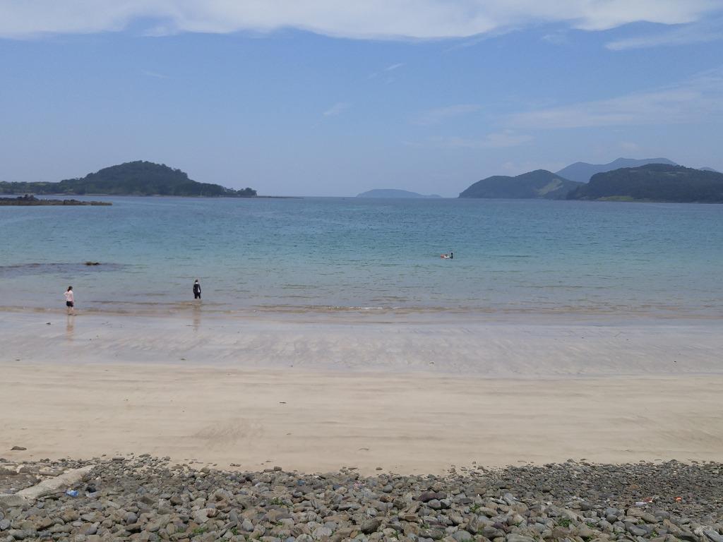 今年初泳ぎ!@柿の浜海水浴場