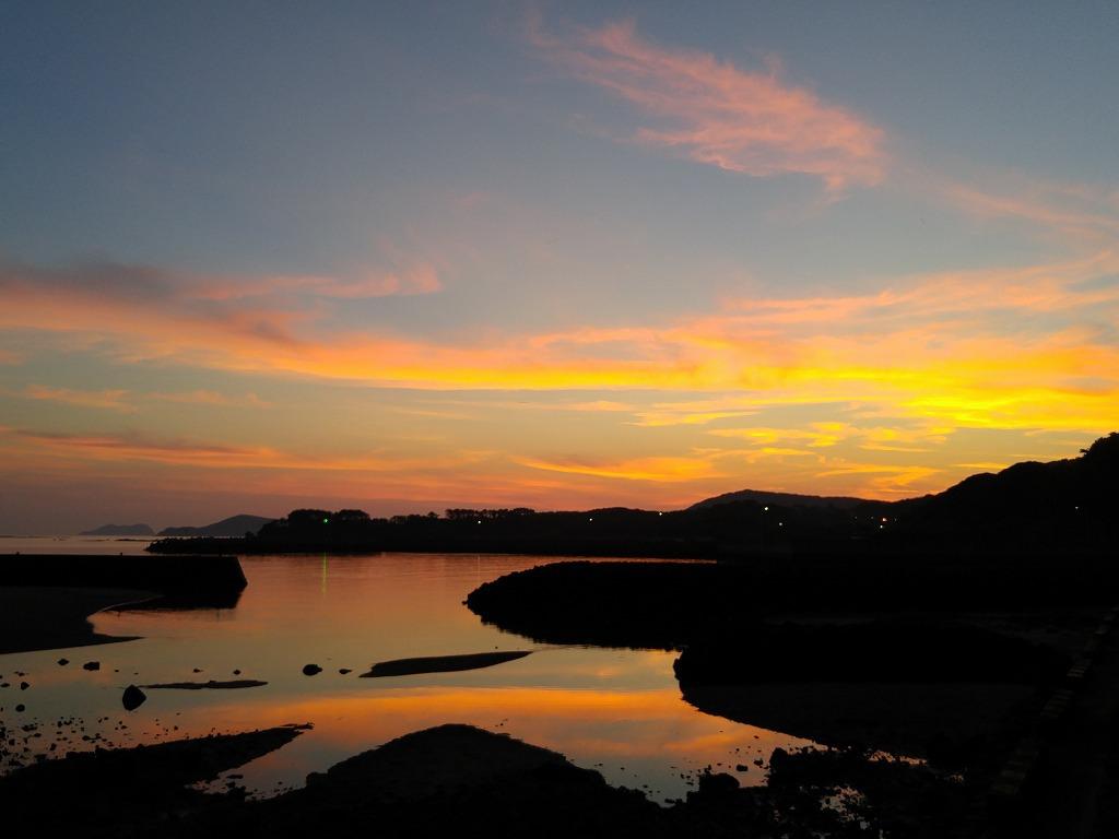 綺麗な夕陽を見ると・・・