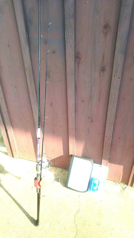 今年の誕生日プレゼントは、釣り竿でした☆