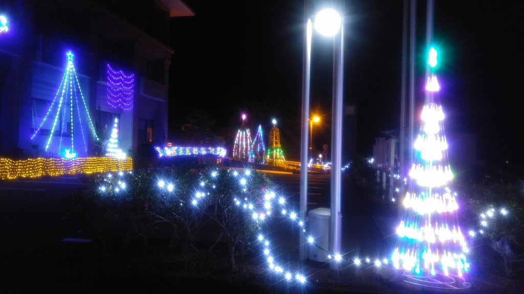 島のクリスマスイルミネーション!!