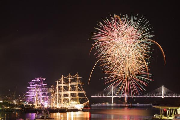 長崎帆船まつり 2015 花火撮り