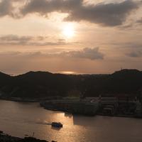長崎夜景 長崎港の夕暮れ@鍋冠山 タイムラプス
