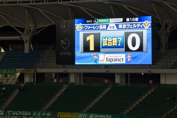 ○V・ファーレン長崎 1-0 東京ヴェルディ 2017 J2