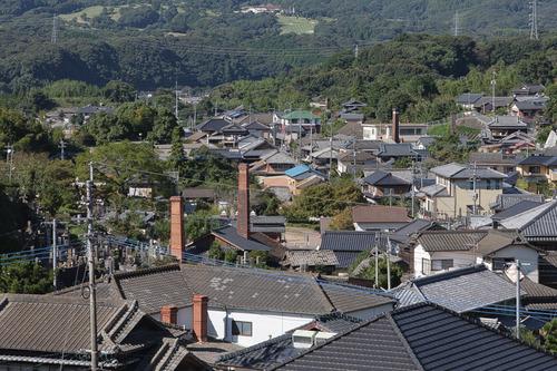 陶芸の里 三川内山 煙突のある風景