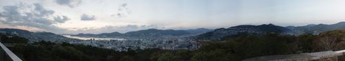 長崎夜景 路線バスで行く風頭公園