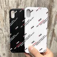 iPhoneXSMaxケース fila 男性女性 人気 アイフォンxr/xsmaxケース ストラップ カップル おすすめ