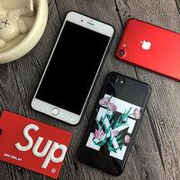 OFF-WHITE オフホワイト ブランド iPhone8ケース チューリップ 矢印ロゴ ストリート系