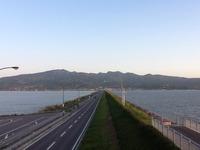 今朝の干拓道路の写真 2013/05/02 07:54:22