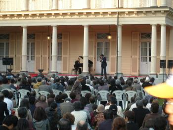「都立旧岩崎邸庭園」での田中健さんのコンサートに行きました。